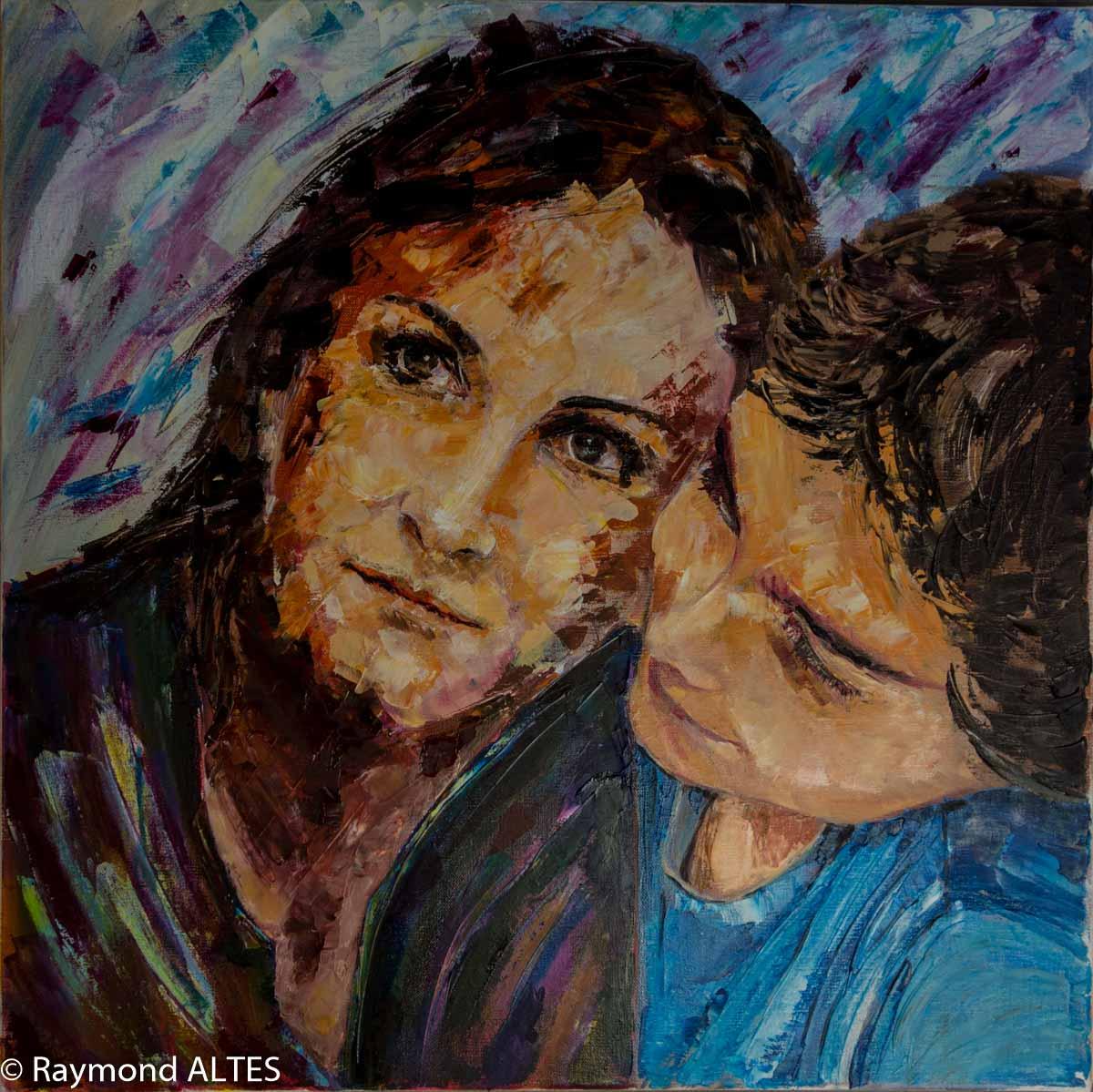 Peinture : La mère et l'enfant