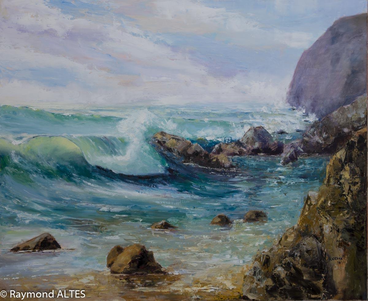 Peinture : La vague