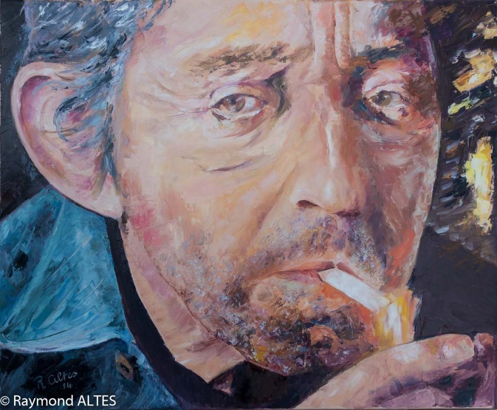Peinture de Raymond Altès : Portrait de Serge Gainsbourg