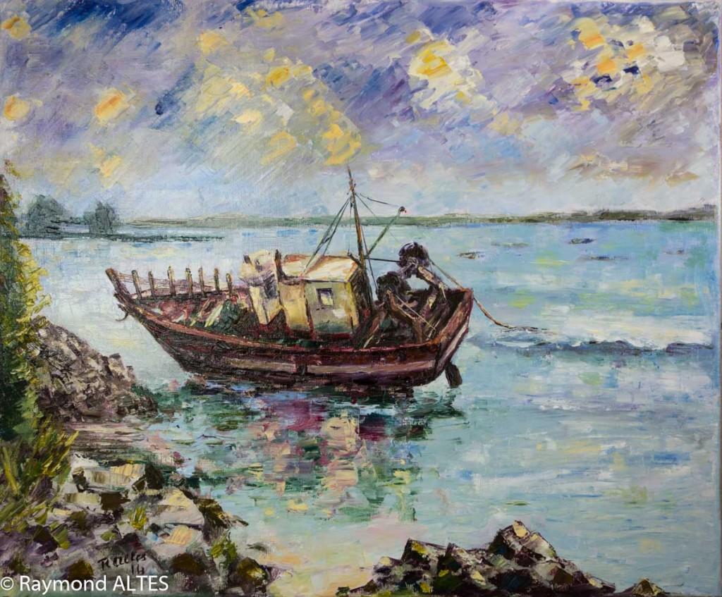 Marine tableau de Raymond Altès : Échouement