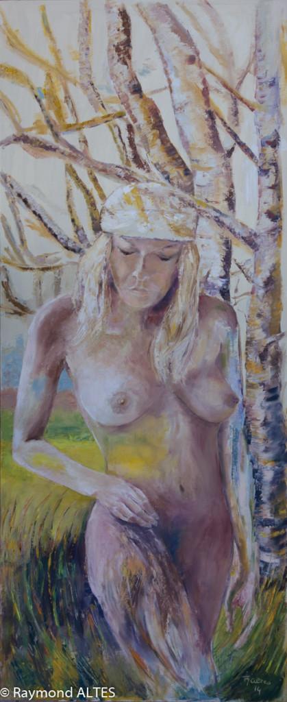 Peinture de Raymond Altès Femme née de la nature
