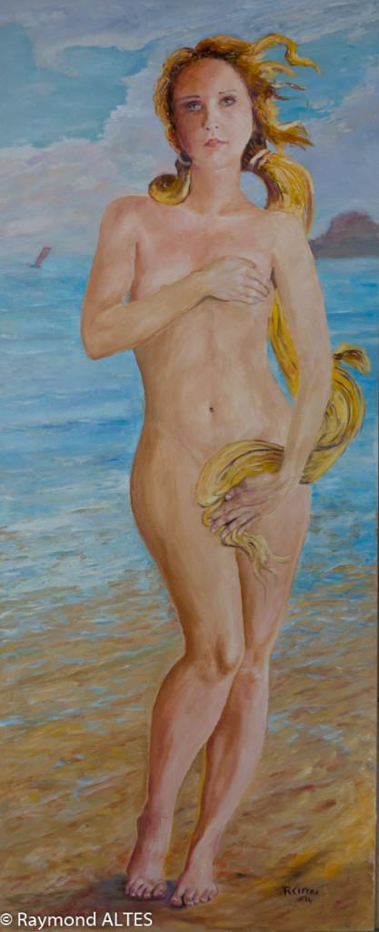 Peinture de Raymond Altès : Femme née de la vague