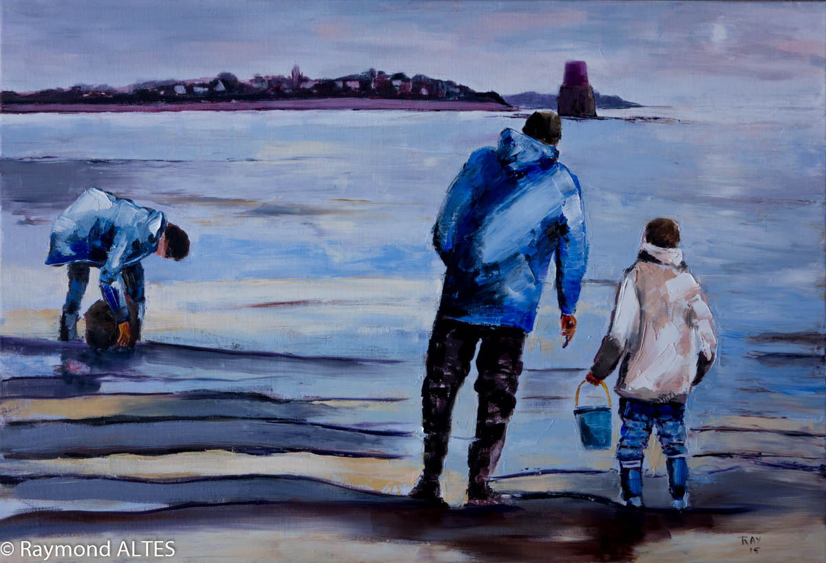 Peinture de Raymond Altès : A marée descendante