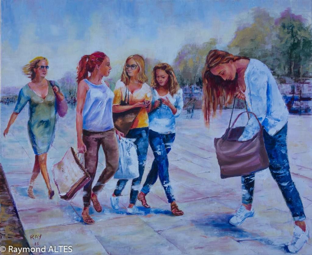 Tableau de Raymond Altès : Les nanas