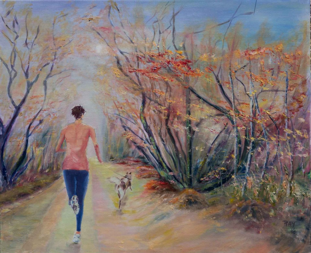 Peinture de Raymond Altès : La joggeuse