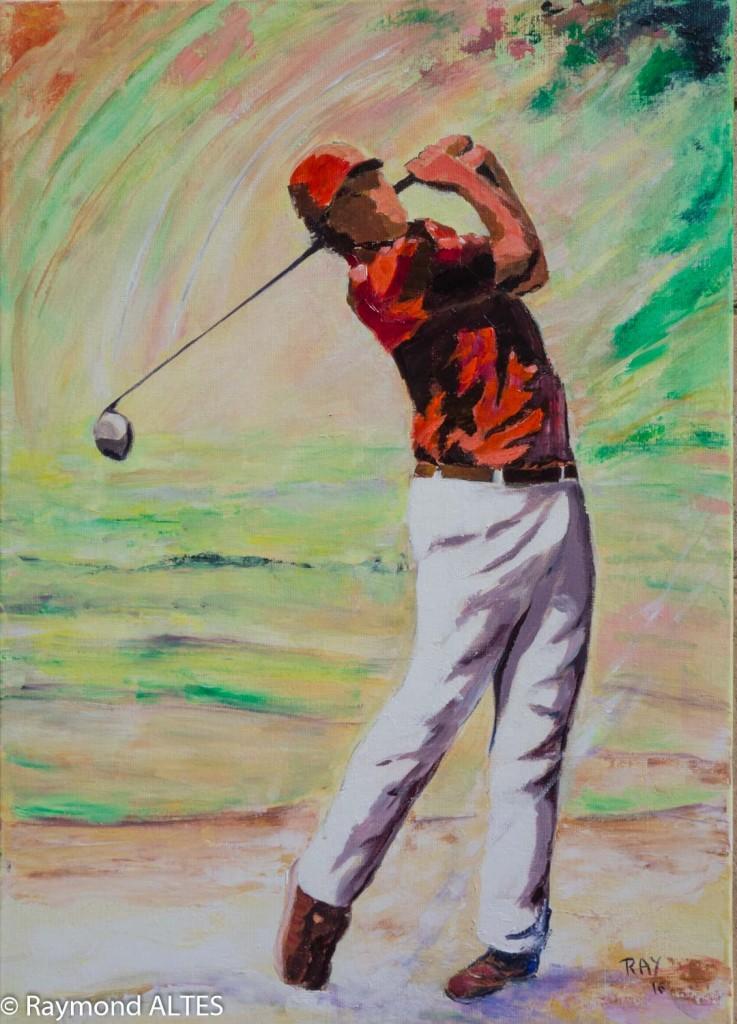 Raymond Altès tableau : Swing Golf