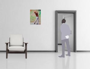 Mise en situation du tableau Swing Golfer
