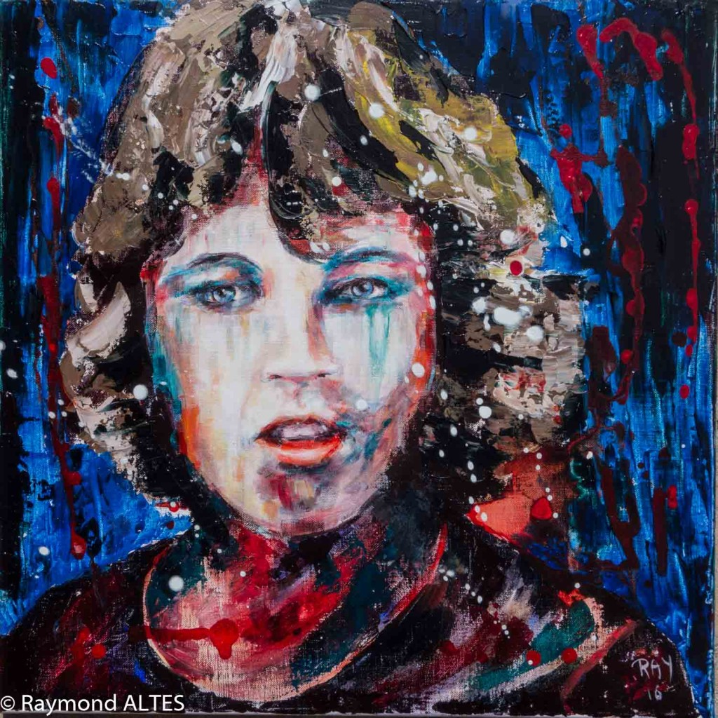 """""""L'encre de mes yeux"""" peinture de Raymond Altès"""