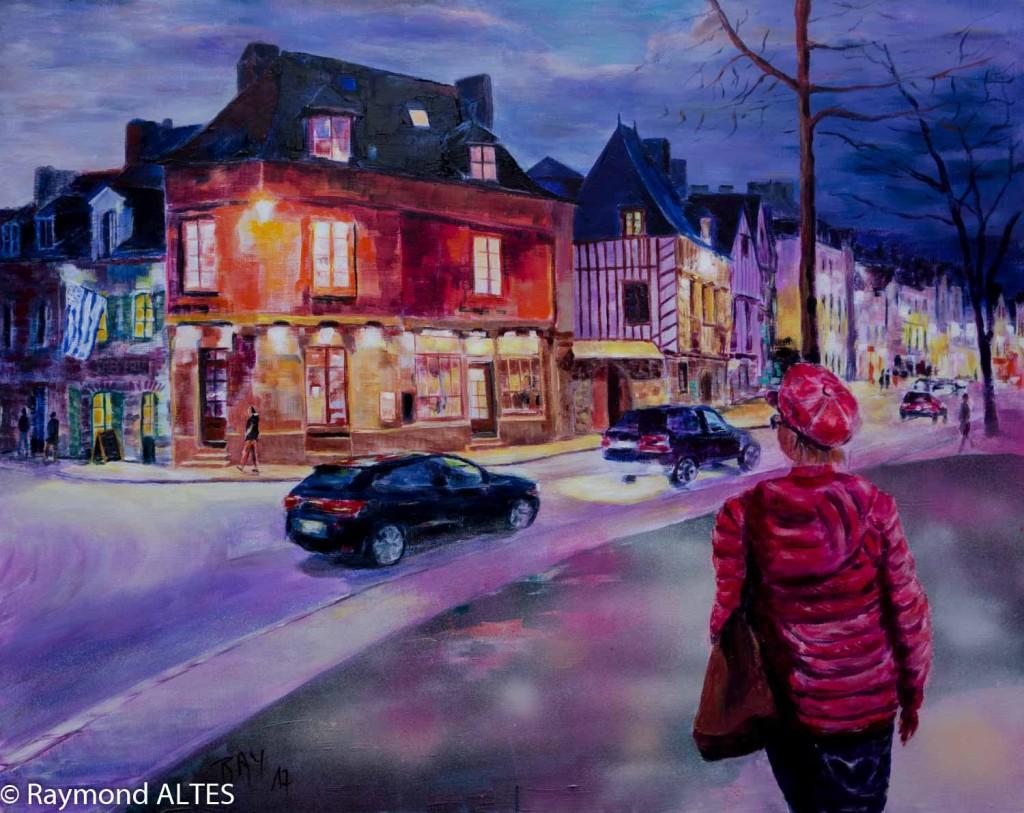 Rue du Port, Vannes tableau de Raymond ALTES