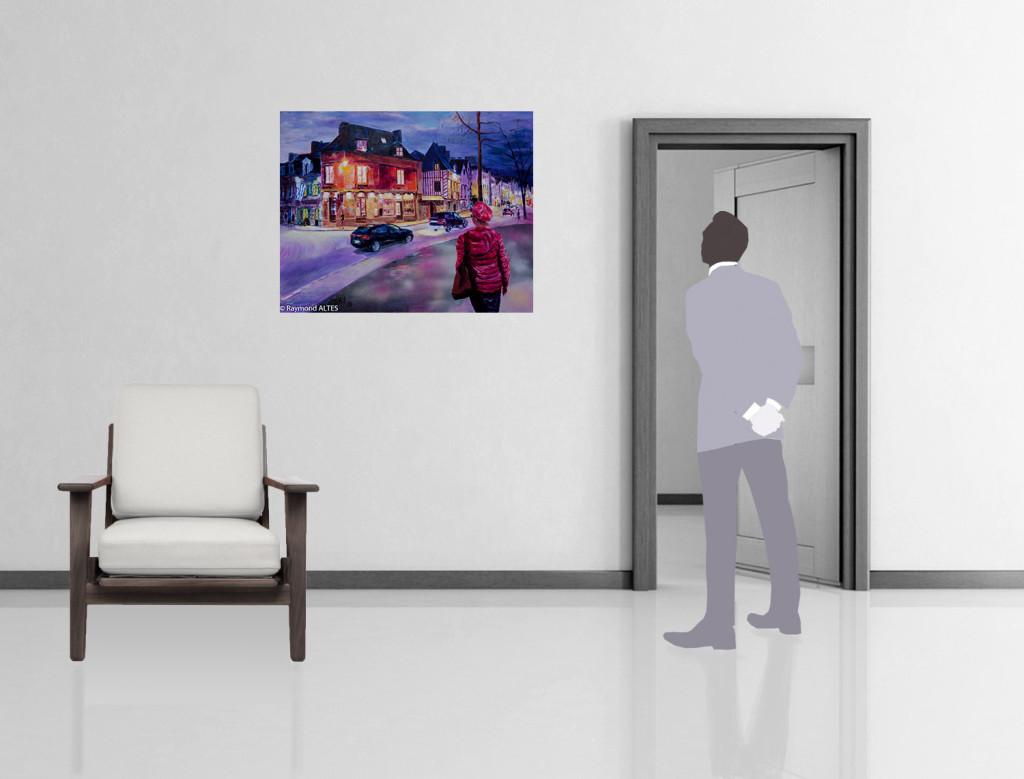 Mise en situation du tableau : Rue du Port