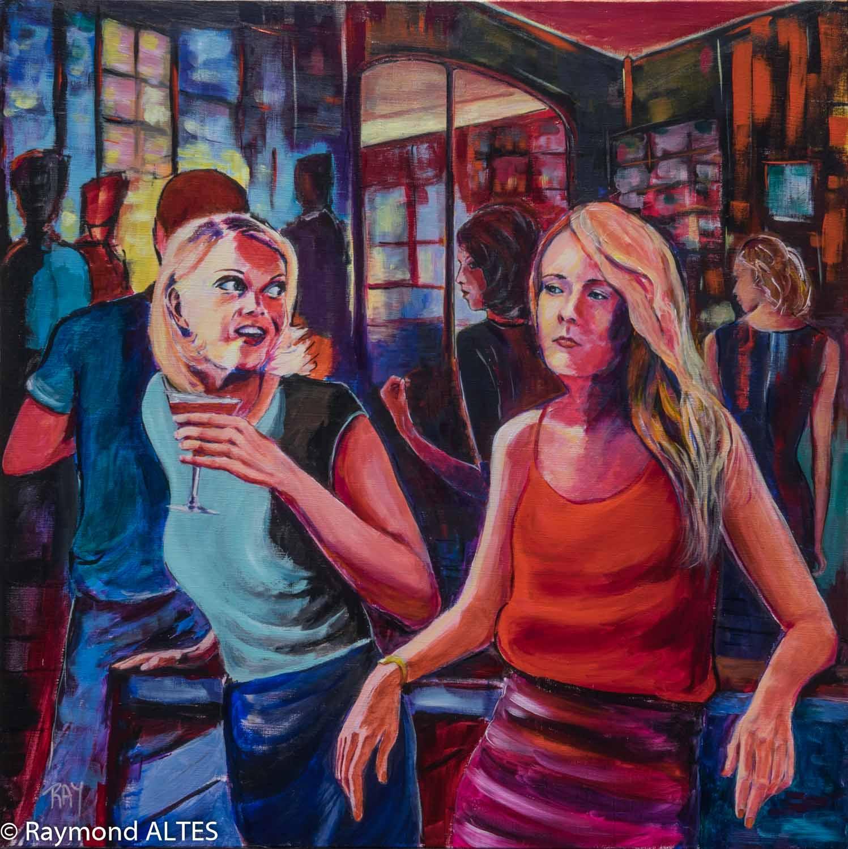 Une soirée entre amis, tableau de Raymond ALTES