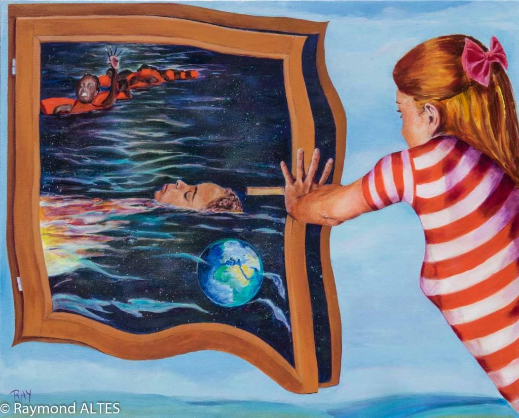 Tableau de Raymond ALTES 100x81 cm Le désir de vivre - Acrylique