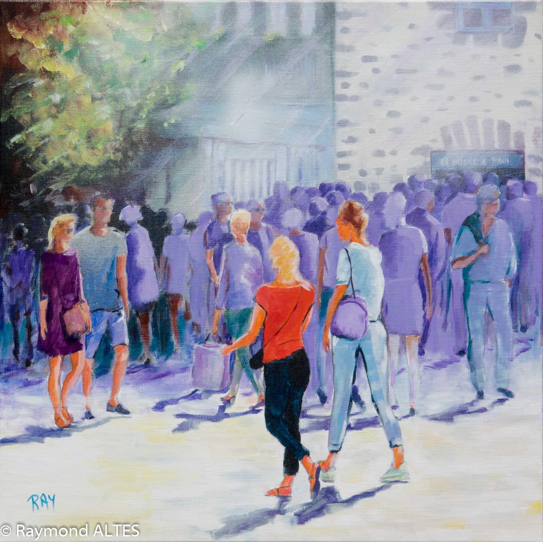 Tableau de Raymond ALTES - Rouge et violet