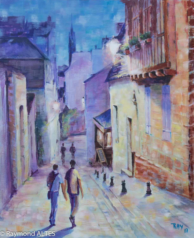 tableau de Raymond ALTES - Ambiance, Quimper