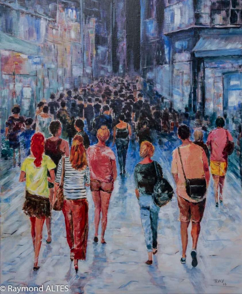 Tableau de Raymond ALTES - Le mystère de la foule