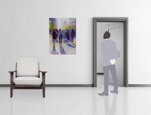 """Mise en situation du tableau """"Cérémonie des ombres"""""""