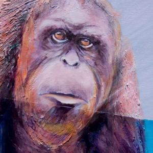 détail tableau Orang outan de raymond Altes