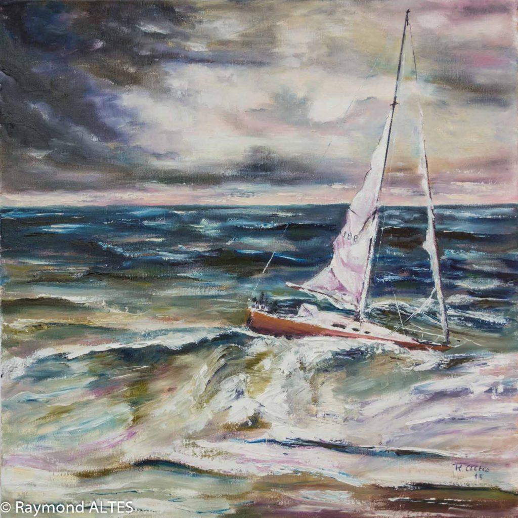 Tableau de Raymond Altes voilier