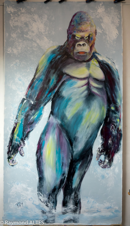 """Gare au gorille""-tableau de Raymond ALTES"