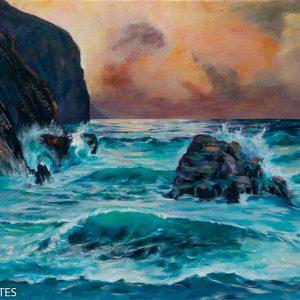 Tableau de Raymond-Altes--Mer démontée Bretagne