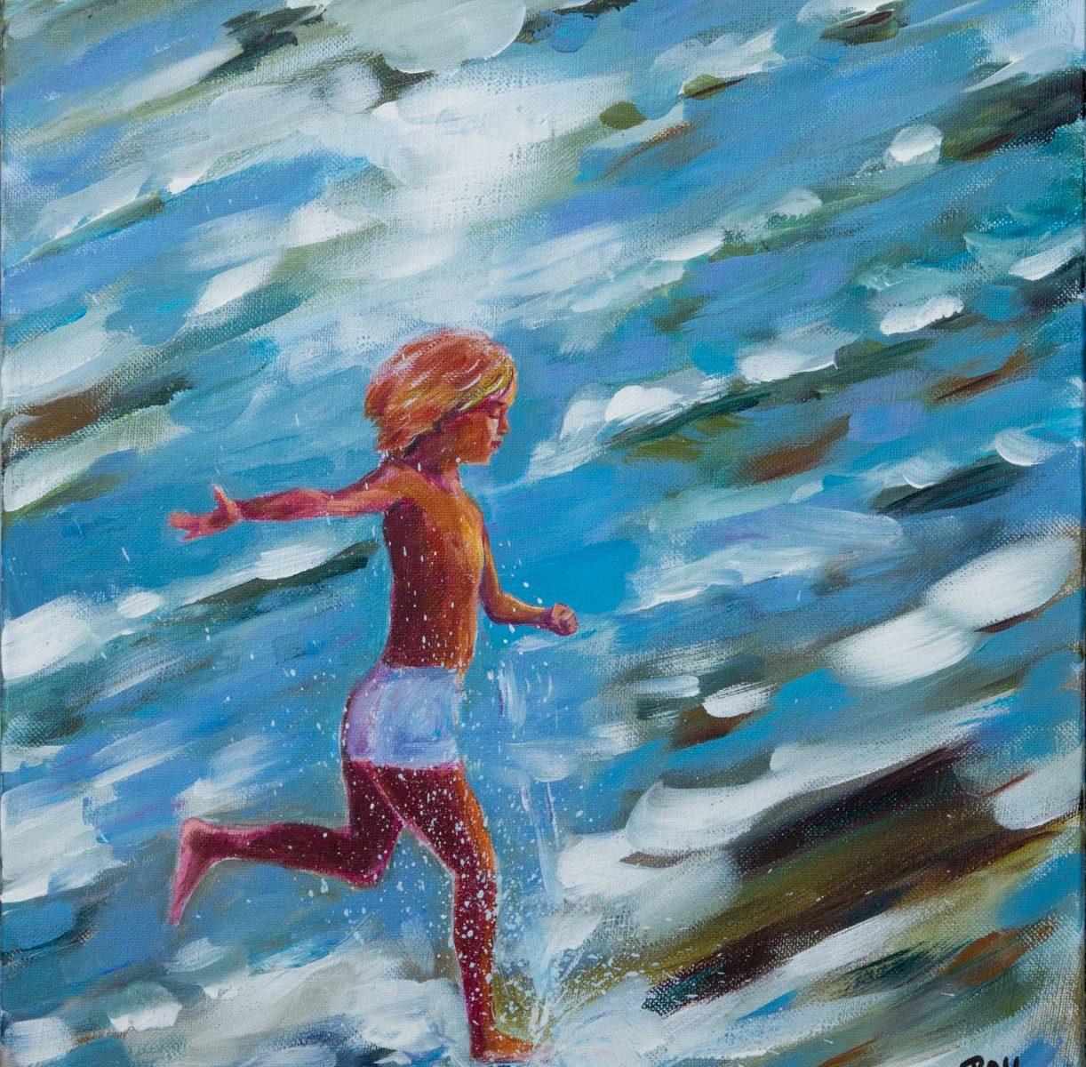 Tableau de Raymond ALTES titre : Courir en toute liberté