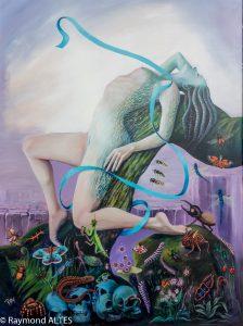 Tableau de Raymond ALTES : Ruban bleu (2)