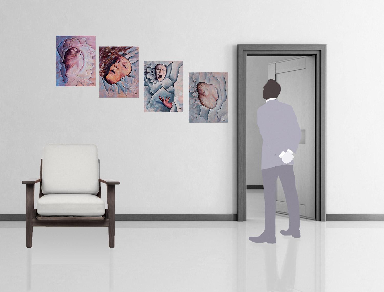 Les 4 tableaux avec une mise à l'échelle